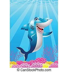 Shark cartoon