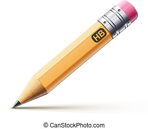 pencil - Vector illustration of sharpened detailed pencil ...