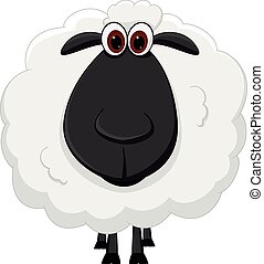 Sheep cartoon  - Vector Illustration of Sheep cartoon