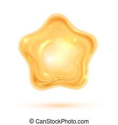 Vector illustration of shiny 3d star