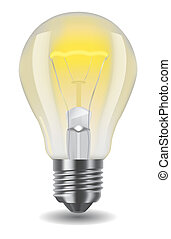 shiny classic light bulb - Vector illustration of shiny ...