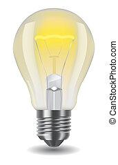 shiny classic light bulb - Vector illustration of shiny ...