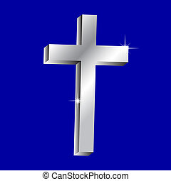 Vector illustration of shiny cross