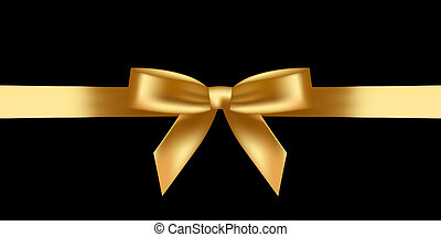 Vector illustration of shiny gold bow