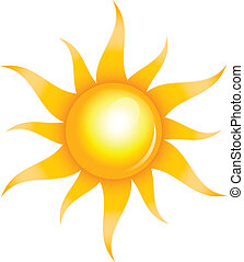 shiny sun - Vector illustration of shiny sun