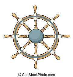 Vector illustration of ship steering wheel
