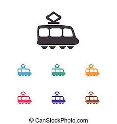 Vector Illustration Of Shipment Symbol On Tramway Icon....