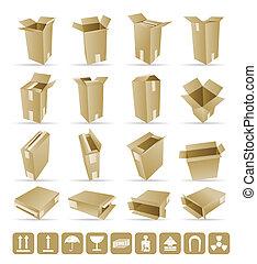 Vector Illustration of shipping box