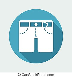 Vector illustration of shorts icon