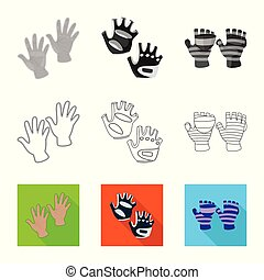 Vector illustration of silhouette and safety icon. Collection of silhouette and comfort stock symbol for web.