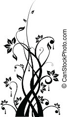 Silhouette of Abstract floral