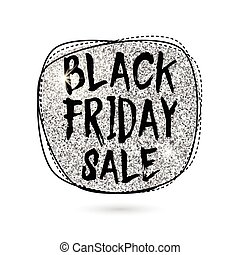 Vector illustration of silver Black Friday Sale