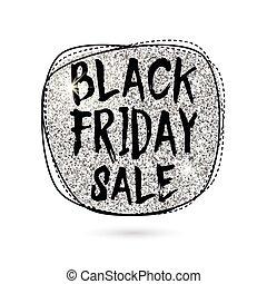 Vector illustration of silver Black Friday Sale