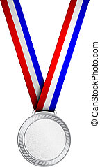 Vector illustration of silver medal