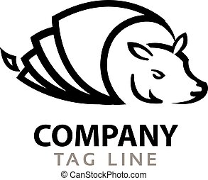 Armadillo Logo - Vector Illustration of Simple Black and...