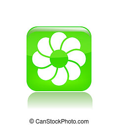 Vector illustration of single isolated abstract symbol icon