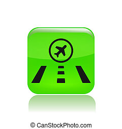 Vector illustration of single isolated airport icon