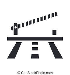 Vector illustration of single isolated barrier icon