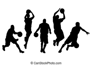 Vector illustration of single isolated basketball icon set