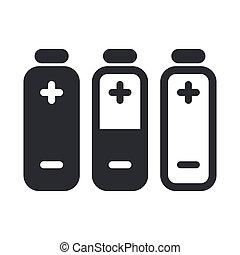 Vector illustration of single isolated battery autonomy icon