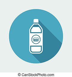 Vector illustration of single isolated beer icon