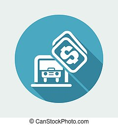 Vector illustration of single isolated car parking icon