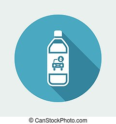 Vector illustration of single isolated car soap icon