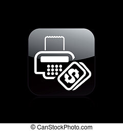 Vector illustration of single isolated cash icon