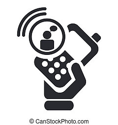 Vector illustration of single isolated chat smartphone icon