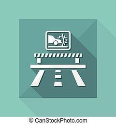 Vector illustration of single isolated crash car icon