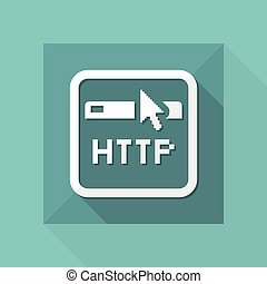 Vector illustration of single isolated web icon