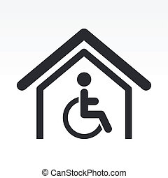 Vector illustration of single isolated handicap icon