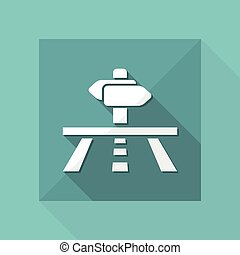 Vector illustration of single isolated road direction icon
