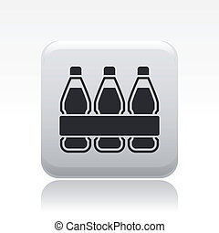 Vector illustration of single isolated bottles icon