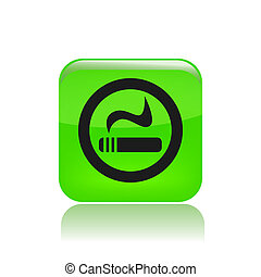 Vector illustration of single isolated smoke icon