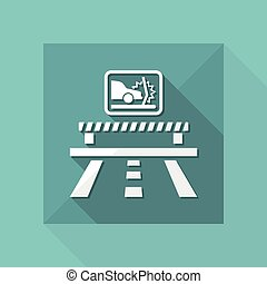 Vector illustration of single isolated crash car icon