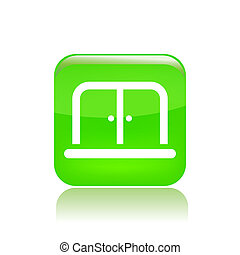 Vector illustration of single isolated doors icon