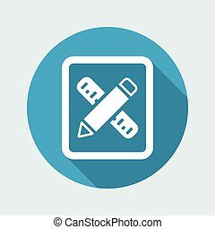 Vector illustration of single isolated design tools icon