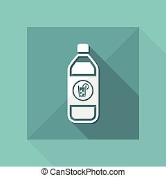 Vector illustration of single isolated drink bottle icon
