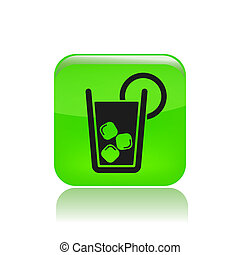 Vector illustration of single isolated drink icon