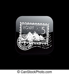 Vector illustration of single isolated Egypt icon