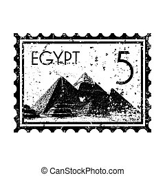 Vector illustration of single isolated Egypt print icon