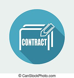 Vector illustration of single isolated contract icon