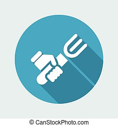 Vector illustration of single isolated food icon