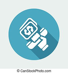 Vector illustration of single isolated phone cost icon