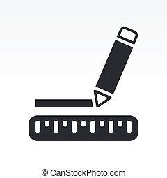 Vector illustration of single isolated design icon
