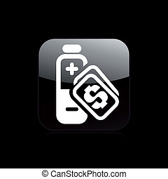 Vector illustration of single isolated charge cost icon