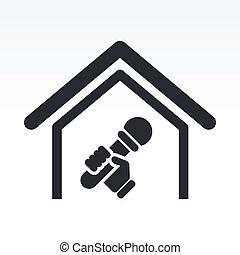 Vector illustration of single isolated karaoke icon
