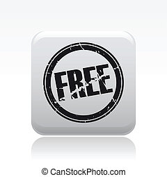 Vector illustration of single isolated free stamp icon