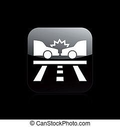 Vector illustration of single isolated crash icon